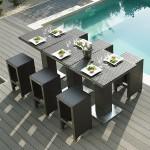 Mobilier d'extérieur - Table haute jardin + 4 tabourets Dolce Vita