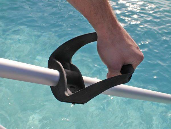 support manche piscine pro